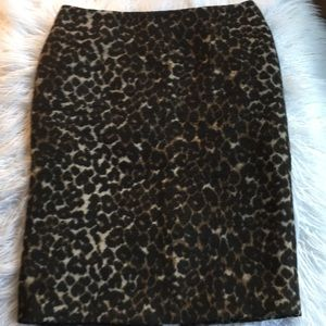 Lord&Taylor Leopard Pencil Skirt US 6